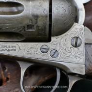 """Colt Peacemaker 7""""1/4 Single Action Army gravé de 1876"""