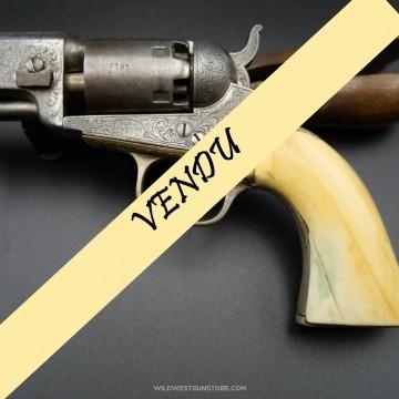 Rare revolver Colt Pocket 1849 Gravé avec crosse Ivoire