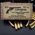 Boite de 50 cartouches calibre .45 Long Colt poudre noire
