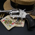 Exceptionnel Colt Sheriff 1878 gravé calibre .45