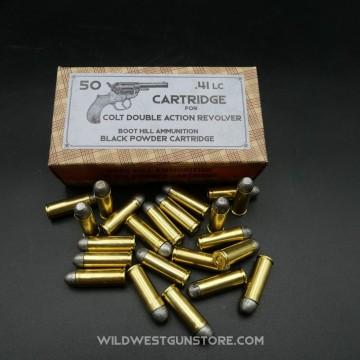 Boite Cartouche Colt 41 poudre noire métallique arme ancienne