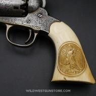 Remington 1858 gravé  Nimschke crosse ivoire