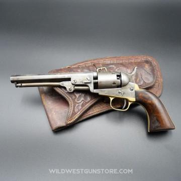 Colt Pocket 1849 modèle précoce canon 6'' à poudre noire