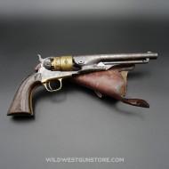 Colt Army 1860 avec barillet à dorures